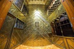 BARCELONA, SPAIN - APRIL 28: Interior of Palau Guell palace on April 28, 2016 in Barcelona, Spain Royalty Free Stock Photos