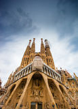 BARCELONA, SPAIN - 25 April 2016: La Sagrada Familia - cathedral Royalty Free Stock Photography