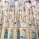 BARCELONA, SPAIN - 25 April 2016: La Sagrada Familia - cathedral by Gaudi Royalty Free Stock Images