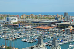 Marina in port Vell on April 13, 2009 in Barcelona Royalty Free Stock Photography