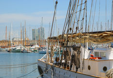 Marina in port Vell Stock Photo