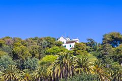 Park Güel, La Casa Trias view royalty free stock image