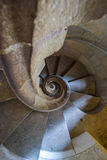 BARCELONA, SPAIN - APRIL 28:  Sagrada Familia towers interior stairs - Barcelona on April 28, 2016 in Barcelona, Spain Royalty Free Stock Image