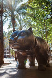 Barcelona, Spain - April 20, 2016: Sculpture of cat in the El Raval Royalty Free Stock Images