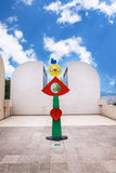 Barcelona, SPAIN - April 22, 2016: sculpture in Fundacio Foundation Joan Miro museum of modern art Royalty Free Stock Photos