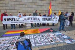 BARCELONA, SPAIN - APRIL 28:  Street protest in Barcelona on April 28, 2016 in Barcelona, Spain Stock Image