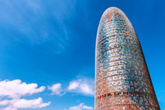 Barcelona, Spain - April 17, 2016: Torre Tower Agbar Stock Photography