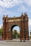Barcelona, Spain. Arc de Triomf in Barcelona, Spain. It was built for the 1888 Universal exhibition, as its main access gate by architect Josep Vilaseca i Stock Photography