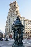 Barcelona, Spain architecture, sculptural decoration, Avinguda D. Barcelona, Spain architecture, sculptural decoration in Avinguda Diagonal royalty free stock photos