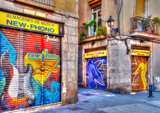 In Barcelona in Spain Royalty Free Stock Photo