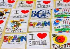 In Barcelona in Spain Stock Images