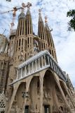 BARCELONA, SPAIN - AUG 30th, 2017: View of main facade of Sagrada Familia Holy Family church designed by Spanish Stock Images