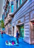 In Barcelona in Spain Stock Image