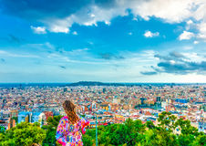 In Barcelona in Spain Royalty Free Stock Photos