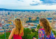 In Barcelona in Spain Stock Photography