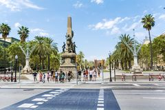 Triumph Arch in Barcelona, Spain. BARCELONA, SPAIN - AUGUST 15: Barcelona Attractions, Triumph Arch of Barcelona Stock Image
