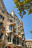 BARCELONA, SPAIN - AUGUST 12: Casa Batllo on August 12, 2011 in Royalty Free Stock Photography