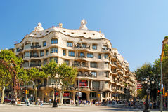 BARCELONA, SPAIN - AUGUST 12: Casa Mila on August 12, 2011 in Ba Royalty Free Stock Image
