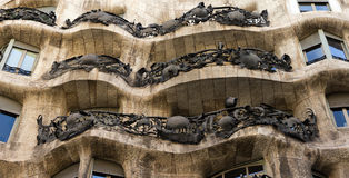 House Casa Mila, architect Antonio Gaudi Royalty Free Stock Photos