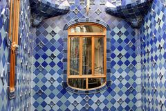 Barcelona Catalunya interior of the Casa Batllo architect by Antoni Gaudi. Spain stock photo
