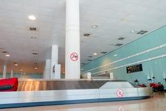BARCELONA, SPAIN - 8 AUGUST, 2015: Conveyer belt Stock Images
