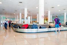 BARCELONA, SPAIN - 8 AUGUST, 2015: Conveyer belt Stock Photography