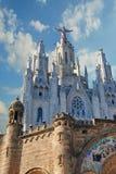 BARCELONA, SPAIN - AUGUST 11: Expiatory church of the Sacred Hea Stock Photo
