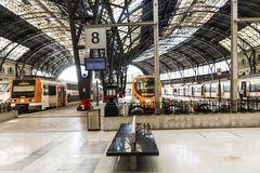 French train station in Barcelona Royalty Free Stock Image