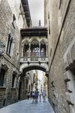 Gothic quarter of Barcelona Royalty Free Stock Photography