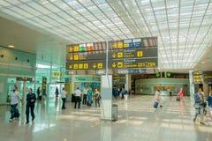 BARCELONA, SPAIN - 8 AUGUST, 2015: Inside arrivals Stock Image