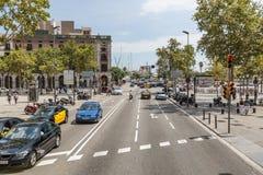 Barcelona, SPAIN- AUGUST 24 2014: Street views of Barcelona center Stock Image