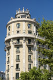 Barcelona & x28; Spain& x29;: byggande Fotografering för Bildbyråer