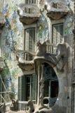 Barcelona & x28; Spain& x29;: byggnad av Passeig de Gracia Arkivbild