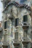 Barcelona & x28; Spain& x29;: byggnad av Passeig de Gracia Royaltyfri Fotografi