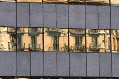 Barcelona & x28; Spain& x29;: byggnad av Passeig de Gracia Arkivfoton