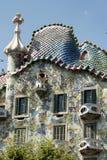 Barcelona & x28; Spain& x29;: byggnad av Passeig de Gracia Arkivfoto