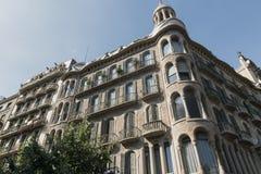 Barcelona & x28; Spain& x29;: byggnad i den Avinguda diagonalen Royaltyfri Bild