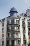 Barcelona & x28; Spain& x29;: byggnad i den Avinguda diagonalen Arkivbilder