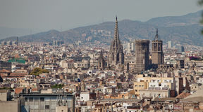Barcelona, Spain. Barcelona is the capital city of the autonomous community of Catalonia in Spain and the country's second largest city Stock Photos