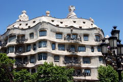 Barcelona, Spain: Casa Milà by Gaudi Stock Photo