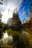 Barcelona, Spain. Barcelona,the cosmopolitan capital of Spain,Sagrada Familia is a large Roman Catholic church stock image