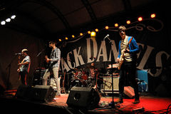 A faixa de Odio Paris executa no festival do dia da música de Jack Daniel Fotografia de Stock