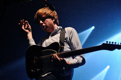 Two Door Cinema Club performs at a Discotheque Stock Photos
