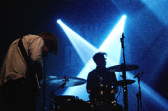 Two Door Cinema Club performs at a Discotheque Royalty Free Stock Photos