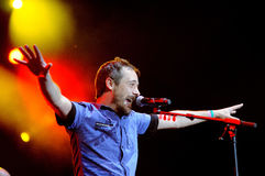 Love of Lesbian band performs at Palau Sant Jordi Royalty Free Stock Photo