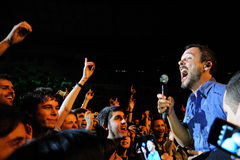 Love of Lesbian band performs at Palau Sant Jordi Stock Images
