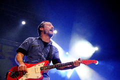 Love of Lesbian band performs at Palau Sant Jordi Royalty Free Stock Images