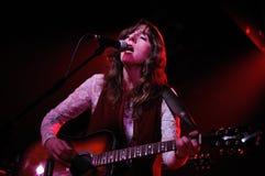 Miren Iza, singer of Tulsa band, performs at Apolo Stock Photography