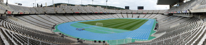 Panorama of the Olympic stadium Barcelona Royalty Free Stock Photography