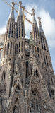BARCELONA, SPAIN - DECEMBER 14: La Sagrada Familia - the impressive cathedral designed by Gaudi. Stock Image